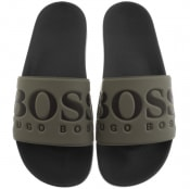 Product Image for BOSS Athleisure Solar Sliders Green